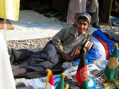 A child vendor at Kabul's weekly bazaar