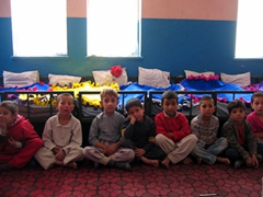 Notice the colorful fleece blankets on their beds? These boys were super well behaved after they received donations from a church group back home; Allahuddin Orphanage