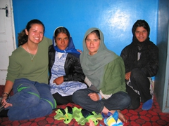 The girls of Allahuddin Orphanage are a bit more reserved, but they enjoyed a visit from the female members of our group