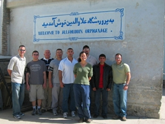 Group photo on our visit to Allahuddin Orphanage; Kabul