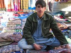 Becky's favorite scarf seller; Kabul