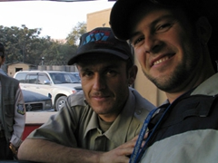 Robby with one of his favorite security guards; Kabul
