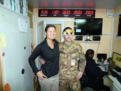 Becky & Angelo ring in the New Years (2012); ISAF Headquarters