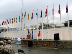 LTG Barno addressing military members at Camp Eggers; Kabul