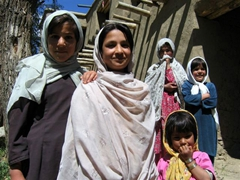 The girls are beautiful and shy at Paghman village