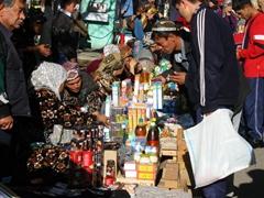 Tashkent market scene