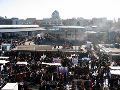 Busy market scene in Tashkent