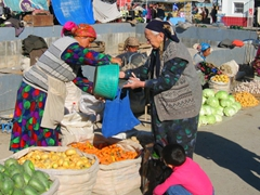 Bright, vivid colors make the Tashkent Market a photographer's delight