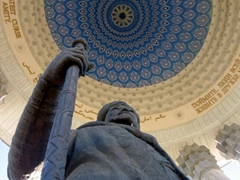 View looking up at the Dome of the Alisher Navoi, a highly revered poet; Tashkent