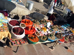 Spices for sale; Chorsu Bazaar
