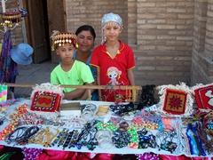 Souvenir sellers, Khiva