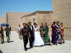 Wedding party, Khiva city street