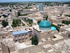 View of Khiva from Islam-Huja Minaret