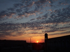 Sunset over gorgeous Khiva