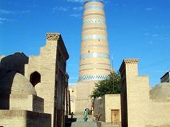 Islam-Huja Minaret, 45 meters tall, Khiva