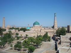 The gorgeous panorama of Khiva