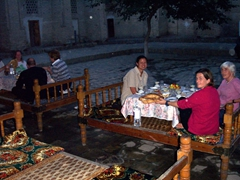 Relaxing at a Chai-khana, Khiva