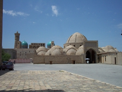 The picturesque Toki-Zargaron, a famous trading outpost in Old Bukhara