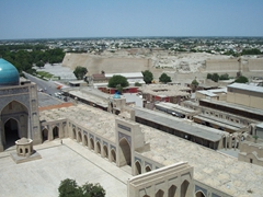 Bird's eye view of the Kalan Mosque complex; Bukhara