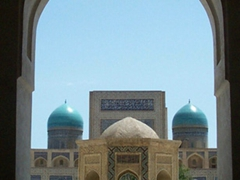 Beautiful view of the 16th Century Po-i-Kalan (Kalan) Mosque; Bukhara