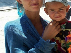 Young gypsy girl and daughter, Bukhara