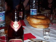 An Uzbek beer served with our meal