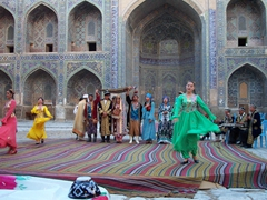 Traditional dance show, Registan courtyard, Samarkand
