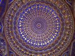 Phenomenal design of a dome interior; Samarkand