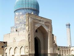 Interior courtyard, Bibi-Khanym Mosque, Samarkand
