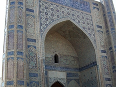 The imposing Bibi-Khanym Mosque (wife of Tamerlane); Samarkand