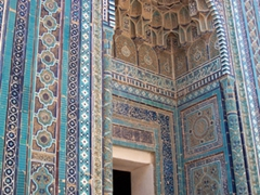 Beautiful portal, Grave of Prophet Mohammed's Cousin, Samarkand