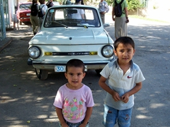 Local kids begging to have their photo taken; Tashkent