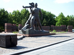 Tashkent Earthquake Memorial (in memory of a magnitude 7.5 earthquake which destroyed most of Tashkent on April 26, 1966)