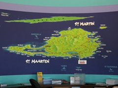 Welcome to St Martin/St Maarten (map inside the tourist information office)