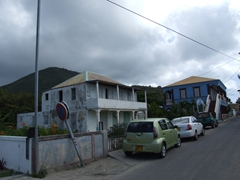 One of the main streets at Grand Case where delicious lolo fare awaits!