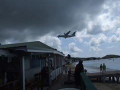 Planes landing into Grand Case's airport are nowhere near as thrilling as the ones flying into the Dutch side of island