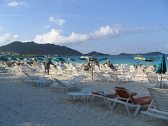 Orient Bay is a popular spot to chill on St Martin