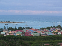 We loved the multi-colored rooftops of these houses…what a picturesque Caribbean memory