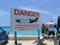 Not your typical beach sign!