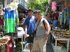 Checking out the touristy kitsch for sale at Philipsburg