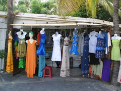 A sample of the items for sale at the tourist shacks in Philipsburg