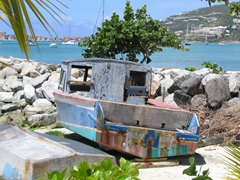 A old rugged boat doesn't look like it is going anywhere anytime soon; Philipsburg