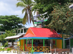 A colorful beach shack; Philipsburg