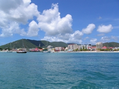 View of Philipsburg from afar