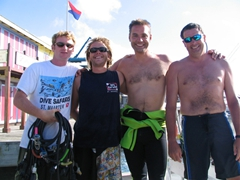 Our friendly (and cute) Dive Safari crew...two thumbs up!