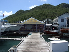 We headed here for Dive Safaris at Bobby's Marina; Philipsburg