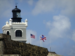 View of El Morro's lighthouse
