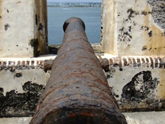 Old rusty canon; El Morro Fortress