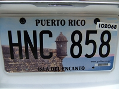 "Puerto Rico license plate ""Isle of Enchantment"""