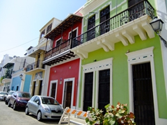 Strolling along Old San Juan is a delight with gorgeous hues on every corner